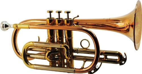 Schiller CenterTone Bb Cornet - Rose Brass with Gold Accents by Schiller