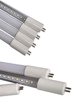 Pack de 30 bombillas LED de tubo fluorescente de 0,6 m, 9 W, G5, T5, SMD2835, 60 ledes, reemplazo de tubo fluorescente de 18 W, luz blanca diaria (6000 ...