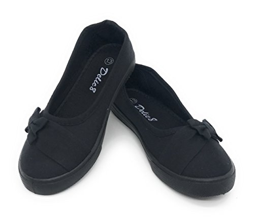All Black School Shoes - 7