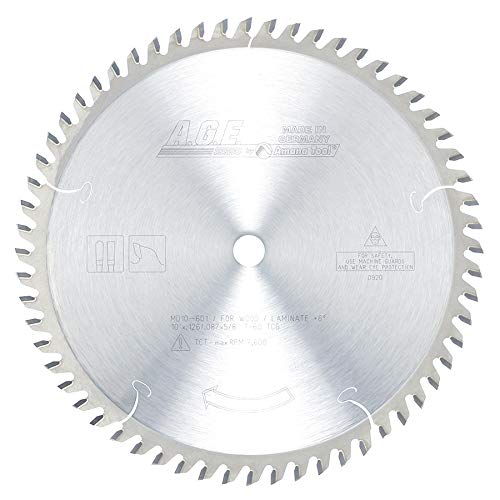 A.G.E. Series MD10-601 Plywood/Laminate 10-Inch Diameter by 60-Teeth by 5/8-Inch Bore, Triple Chip Grind Carbide Tipped Saw Blade