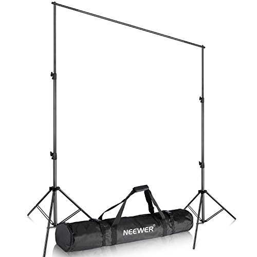 Neewer Heavy Duty Backdrop Support System Adjustable Photography Equipment Includes Light Stand and Cross Bar with Carrying Case for Backdrop Background Studio Video Shooting, 10x8.5 feet/3x2.6 meters by Neewer