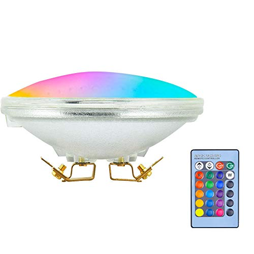 LED PAR36 Landscape Bulb RGB 12V Flood Light Landscape PAR36, 10W LED PAR36 Bulb Color Changing AR111 G53 LED Bulb PAR36 Landscape Lights for Garden Yard Patio Swimming Pool Deck Landscaping Lighting