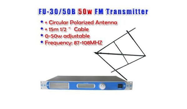 GOWE 50 W FM transmisor 0 – 50 W FM Radio Emisora CP100 ...