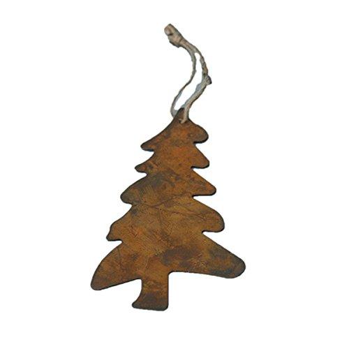 Rusty Skinny Pine Tree Ornament - Set Of 6