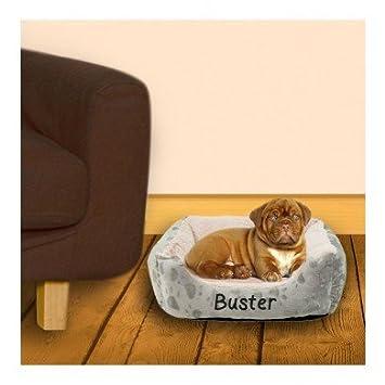 Cama acolchada para mascotas personalizable, color gris: Amazon.es: Productos para mascotas