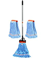 Nine Forty Industrial Strength Premium Looped End Wet Mop Head for Floor Cleaning Kit