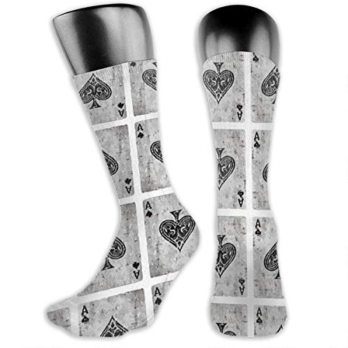 TLDRZD Vintage Ace of Spades Card Poker Lover Dress Socks Funny Stockings Crazy Socks Casual Cotton Crew Socks ()