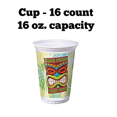 Tiki Luau Birthday Supplies Set Plates Napkins Cups Kit for 16 Includes Party Planning Guide: Toys & Games