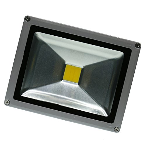 MagiDeal 6 Style LED Outdoor Flood Light Garage Driveway Security Floodlight Landscape Light - Yellow 20W, as described by Unknown