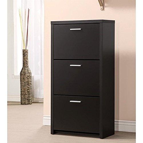Coaster 900604 Home Furnishings Shoe Cabinet, Black