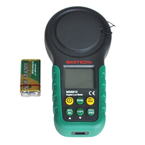 Mastech MS6612 Digital Lux / FC Meter with 40-segment Bar Graph, 0-200,000 Lux by Mastech