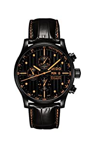 Mido Men's Black Dial Color Leather Strap Watch - M005.614.36.051.22