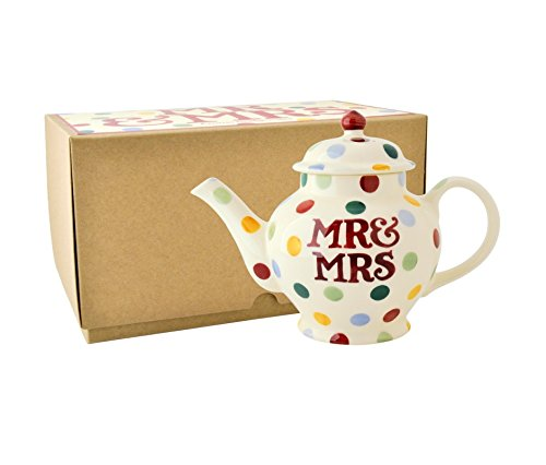 Emma Bridgewater Polka Dot 'Mr & Mrs' 2 Cup Teapot, Boxed
