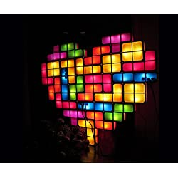 TACTBIT® SURPRISE YOUR MOM WITH YOUR BIG HEART LIGHT - Mother's day gift of Flower or I love U, MEGA 28 PIECES SET. ORIGINAL DESIGN AND PATENTED.USB POWERED.