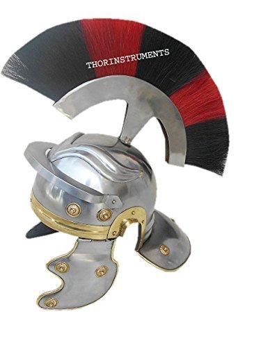 Co Centurian romano casco Medieval Knight Armor disfraz penacho de color rojo y