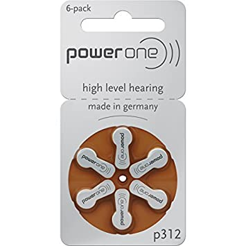 Powerone 312 Hearing Aid Batteries General Purpose Batteries & Battery Chargers at amazon
