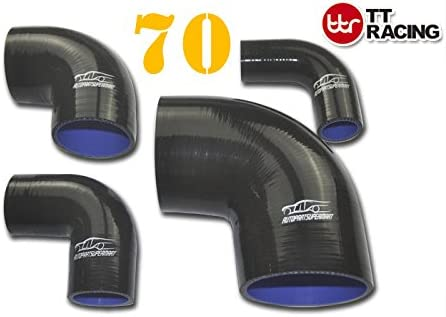 4-ply Silicone 90 Degree Elbow Radiator Hose Joiner Pipe Black 95mm 3.75 3-3//4