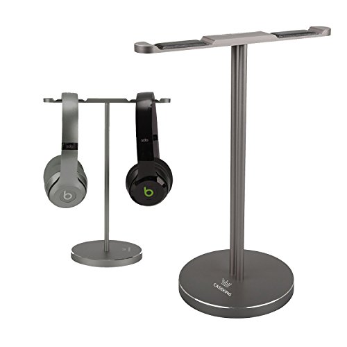 Headphone stand, CASEKING headphone bracket for Bose, Beats, Sony, Philips, JVC, Gaming, and DJ etc.. Universal compatibility with all headphones(Gray)