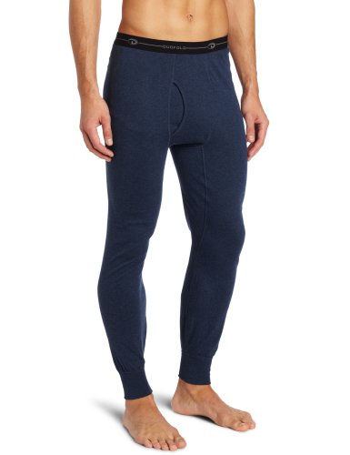 Duofold Men's Mid Weight Double Layer Thermal Pant, Blue Jean, - Bib Wool
