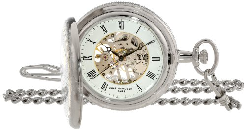 Charles Hubert 3860 Two-Tone Mechanical Pocket Watch
