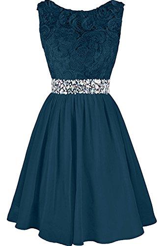 Brautjungfernkleid Hochwertig Steine Abendkleider Damen Ivydressing Spitze Kurz Blaugruen Ballkleider xYnfq5F7w