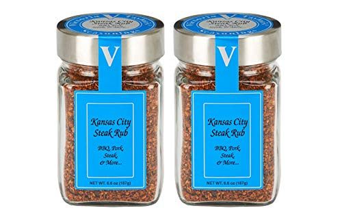 (Kansas City Steak Rub 2 Pack - Blends black peppercorns, brown sugar, paprika, and garlic.)
