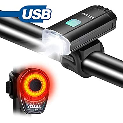 COB LED Bicycle Bike Cycling Front Rear Light USB rechargeable LED light 6 Modes