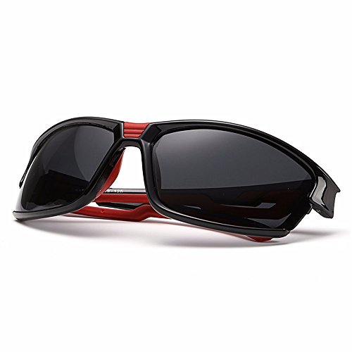 BLDEN Deportivas Irrompible UV400 Polarizadas Ergonómico TAC Flexible De Deporte Proteccion Hombre Sol Black Para Gafas r0wcqrIz