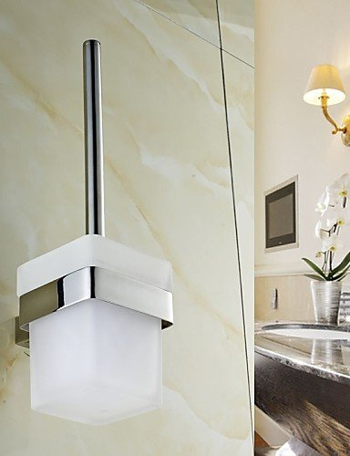 XY&XH Toilet Brush Holder , Toilet Brush Holder , Contemporary Mirror Polished Wall Mounted