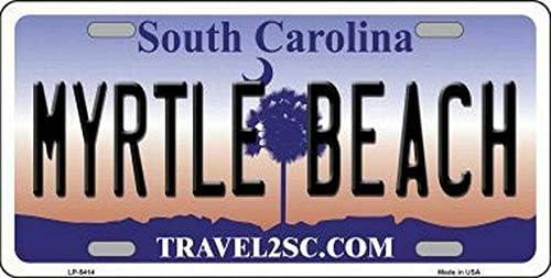 TammieLove Plaque dimmatriculation Myrtle Beach South Carolina State Background nouveaut/é Plaque dimmatriculation 15 x 30 cm