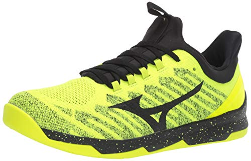 Mizuno Men's TC-01 Cross Training Shoe, Cross Training Sneakers for all forms of Exercise, Safety Yellow-Black, 10.5 D US