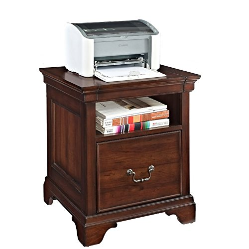 Printer Stand Crafted Using Solid Wood Large Top Accomodates Full Sized Multi Functional Printer Full Suspension Ball Bearing Glides Box Joint Drawer Construction Fully Back Place Anywhere in a Room by AVA Furniture