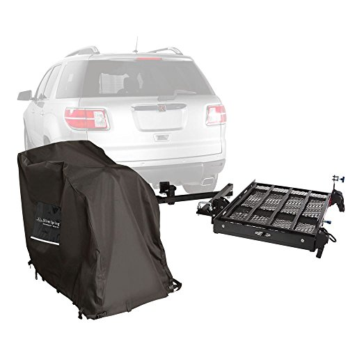 Silver Spring Premium Hitch Mobility 400 lb Carrier with Powerchair Cover