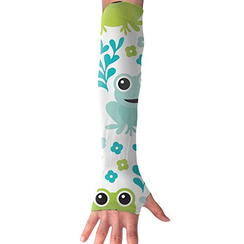 Quilted Frog (Smile Frog Super Long Fingerless Anti-uv Sun Protection Sleeves Gloves For Outdoor Activities Apply To Camping,Driving,Hiking,Cycling Arm Prevent Injuries Modeling Cool)