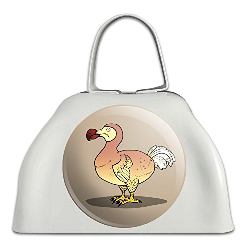 Dodo Bird White Metal Cowbell Cow Bell Instrument