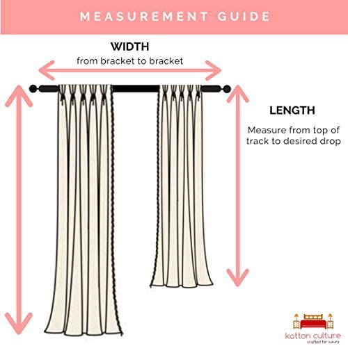 Kotton Culture Triple Pinch Pleat Thermal Insulation Blackout Curtains Window Panel