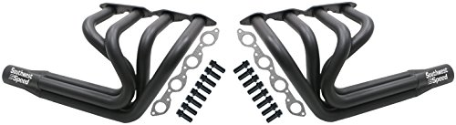 NEW SOUTHWEST SPEED BLACK T-BUCKET FENDERLESS SPRINT ROADSTER HEADERS FOR BIG BLOCK CHEVY 366-502 V8 ENGINES, 1 7/8