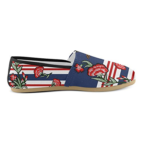 M-story Sneakers Moda Appartamenti Classici Slip-on Canvas Mocassini Multicolore5
