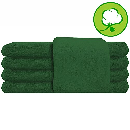 Green Salon Towel 100% Cotton 16''x27''. Hand Towel - 6 DOZEN (72 pack by A&H
