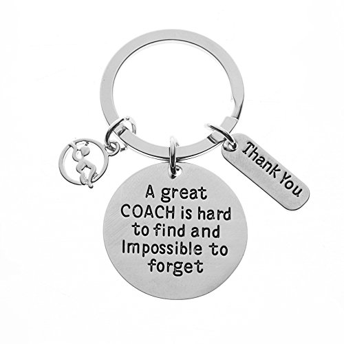- Infinity Collection Swim Coach Keychain, Swimming Coach Gifts, Great Coach is Hard to Find Coach Keychain