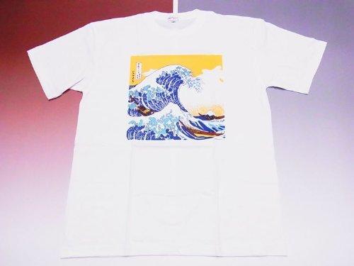 印象卑しい細部【業界最大の品揃え】日本のお土産Tシャツ(漢字?和柄)波3Lサイズ