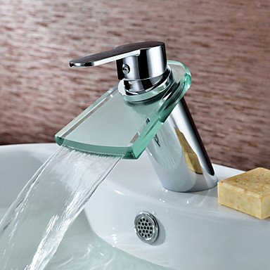 HMer Contemporary Brass Sink tap (Waterfall)