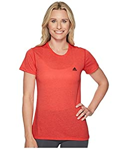 adidas Women's Training Ultimate Short Sleeve Tee, Real Coral, Small