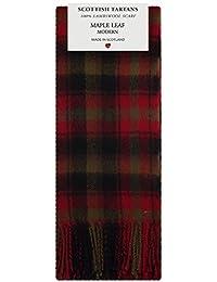 Maple Leaf Modern Tartan Clan Fashion Scarf 100% Lambswool Made in Scotland