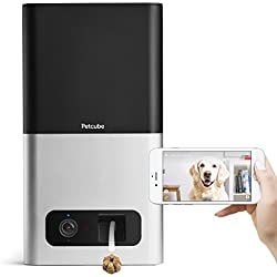Petcube Bites Pet Camera with Treat Dispenser: HD 1080P Video Monitor, 2-Way Audio, Night Vision, Sound & Motion Alerts. designed for Dogs & Cats