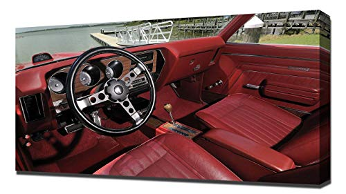 Lilarama USA 1970 Pontiac GTO Judge Hardtop Coupe V6 - Canvas Art Print - Wall Art - Canvas - Judge Pontiac Gto Hardtop