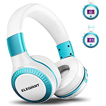Bluetooth Headphones, ELEGIANT On Ear Bluetooth Headset Foldable with Mic FM Radio Micro SD Card Slot Wired and Bluetooth Headphones for iPhone X 8 7 6S ...