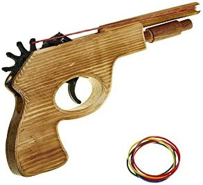 Jugetutto - Pistola dispara Gomas I - Juguete de Madera