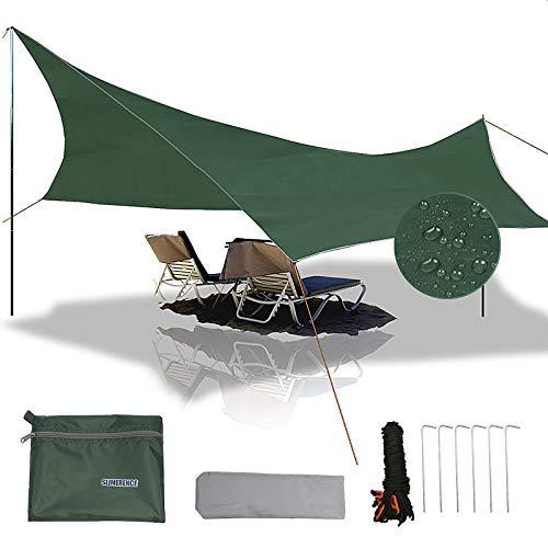 Slanke Camping Tarp, Hangmat Regen Vliegtentui Outdoor Tent Tarp Waterdichte UV Bescherming Luifel Tent Tarp Shelter…