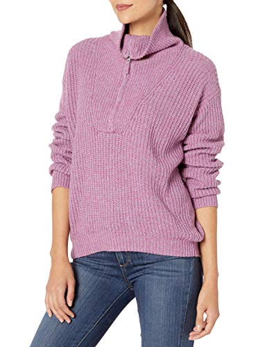 Splendid Women's Cashmere Blend Long Sleeve Pullover Sweater, Boysenberry, S
